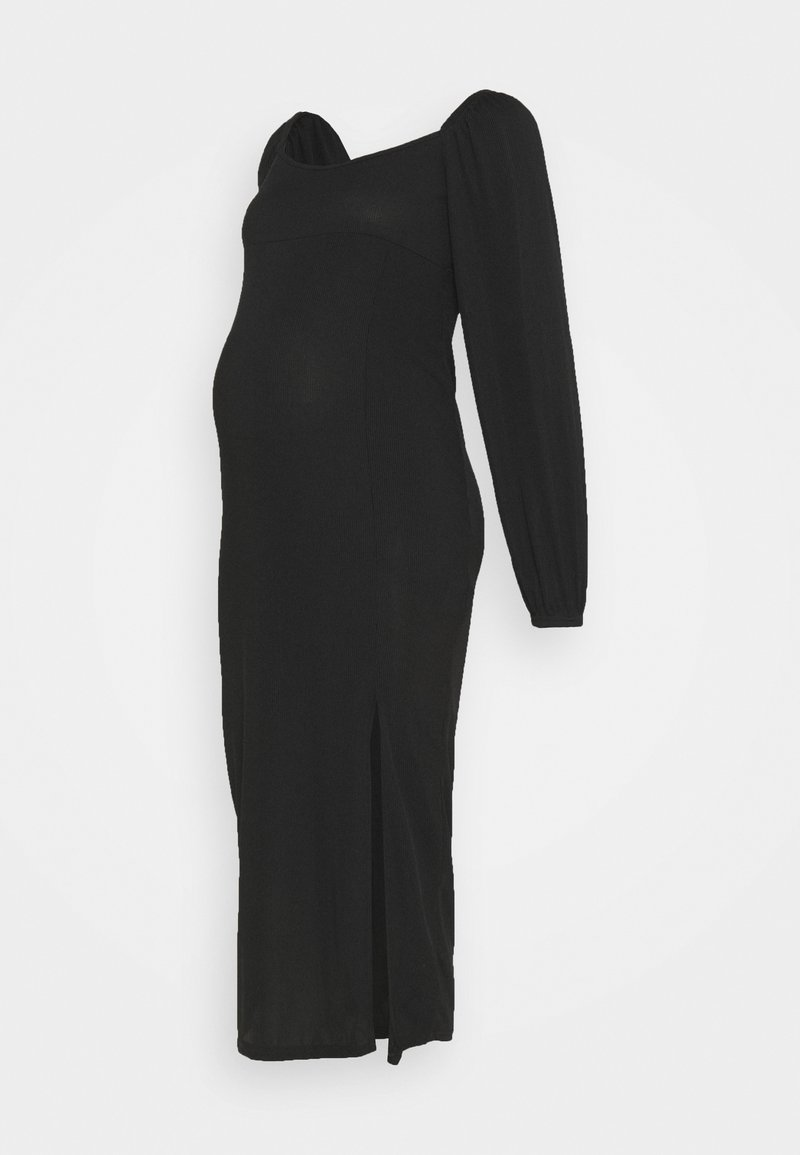 Missguided Maternity - MILKMAID MIDAXI DRESS - Žerzejové šaty - black