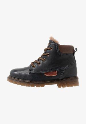 BOOTIES - Šněrovací kotníkové boty - navy