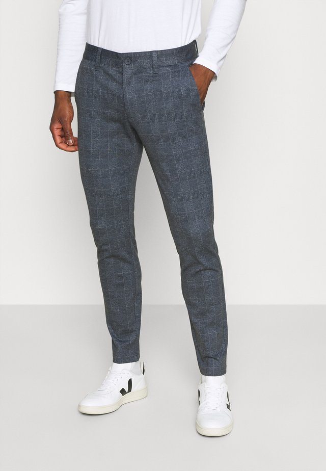 ONSMARK CHECK PANTS - Kalhoty - dress blues