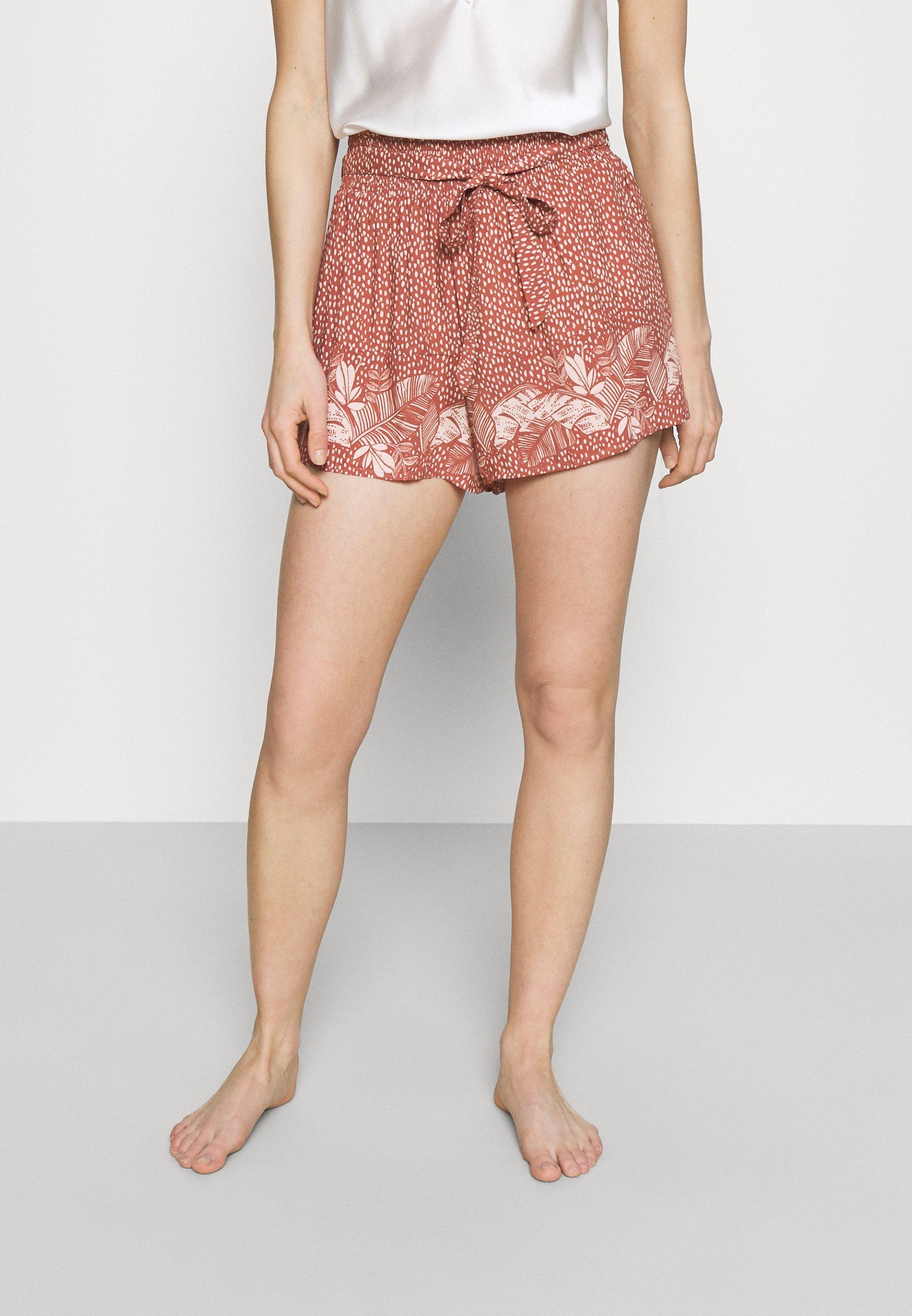 Women PALM BELT SHORT - Pyjama bottoms - red