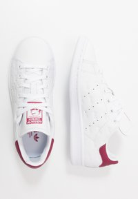 adidas Originals - STAN SMITH - Trainers - footwear white/mystery ruby/maroon - 1