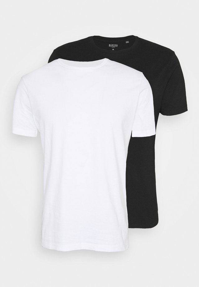 SHORT SLEEVE CREW 2 PACK - Basic T-shirt - white/black