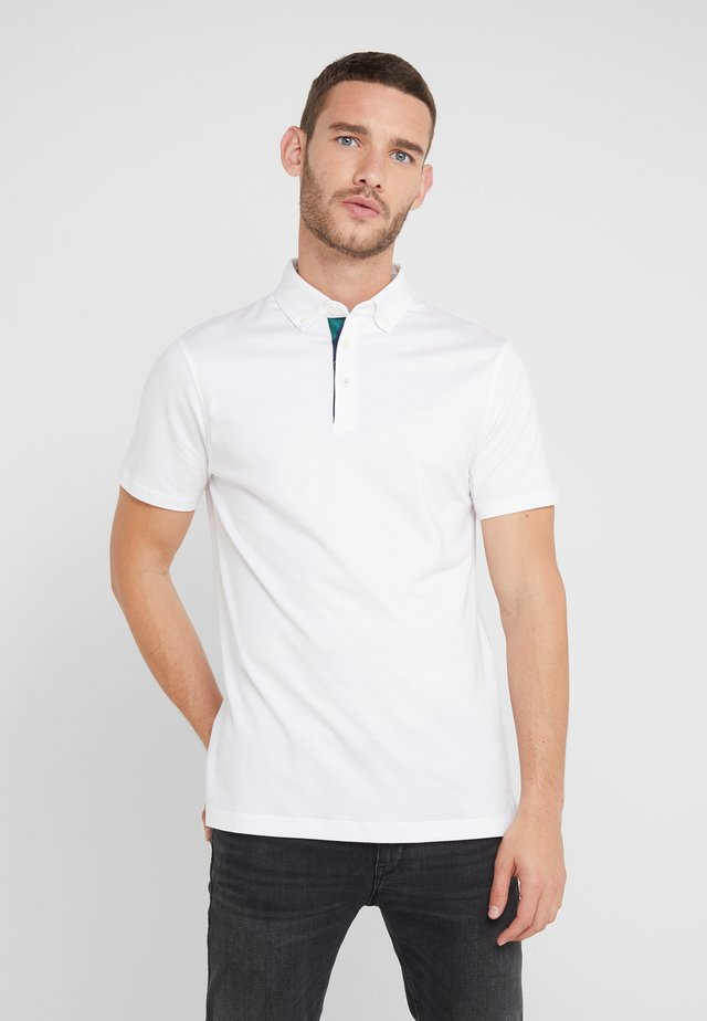TIE STRIPE TRIM SLIM FIT - Polo - white