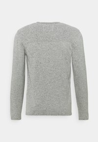 Marc O'Polo DENIM - LONG SLEEVE CREW NECK STRUCTURE CHANGE ON THE BACK - Strickpullover - multi/egg white - 1
