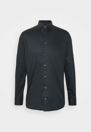 SOLID TWILL STRETCH - Formal shirt - black