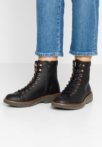 El Naturalista - VOLCANO - Lace-up ankle boots - black - 0
