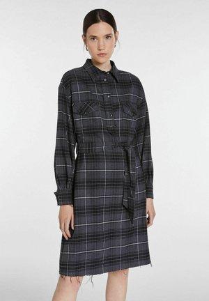 Shirt dress - mottled dark grey