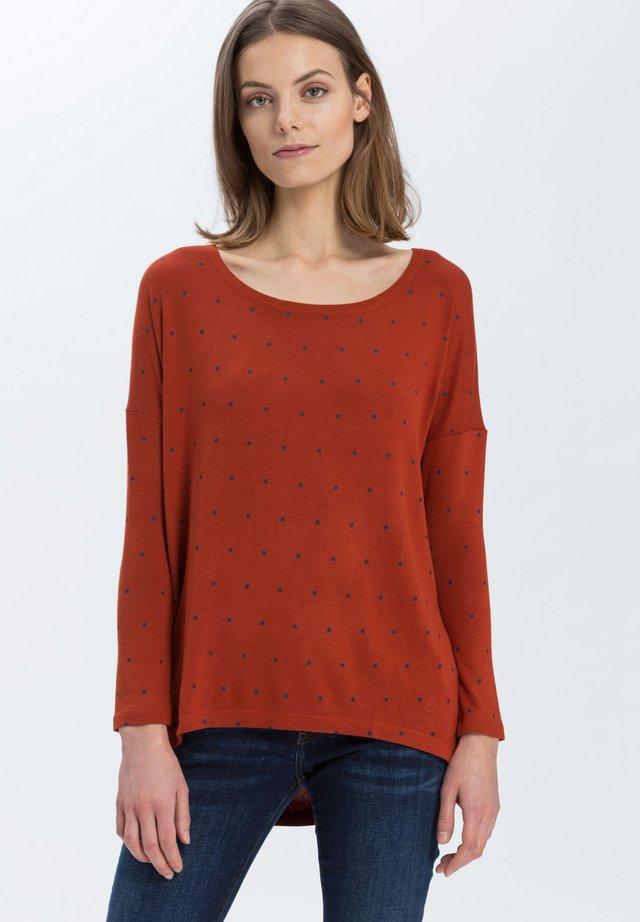 Long sleeved top - rostorange