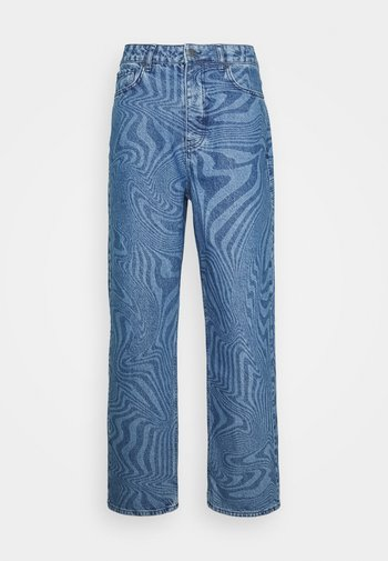 WARPED WAVE DISCHARGE - Jeans relaxed fit - blue