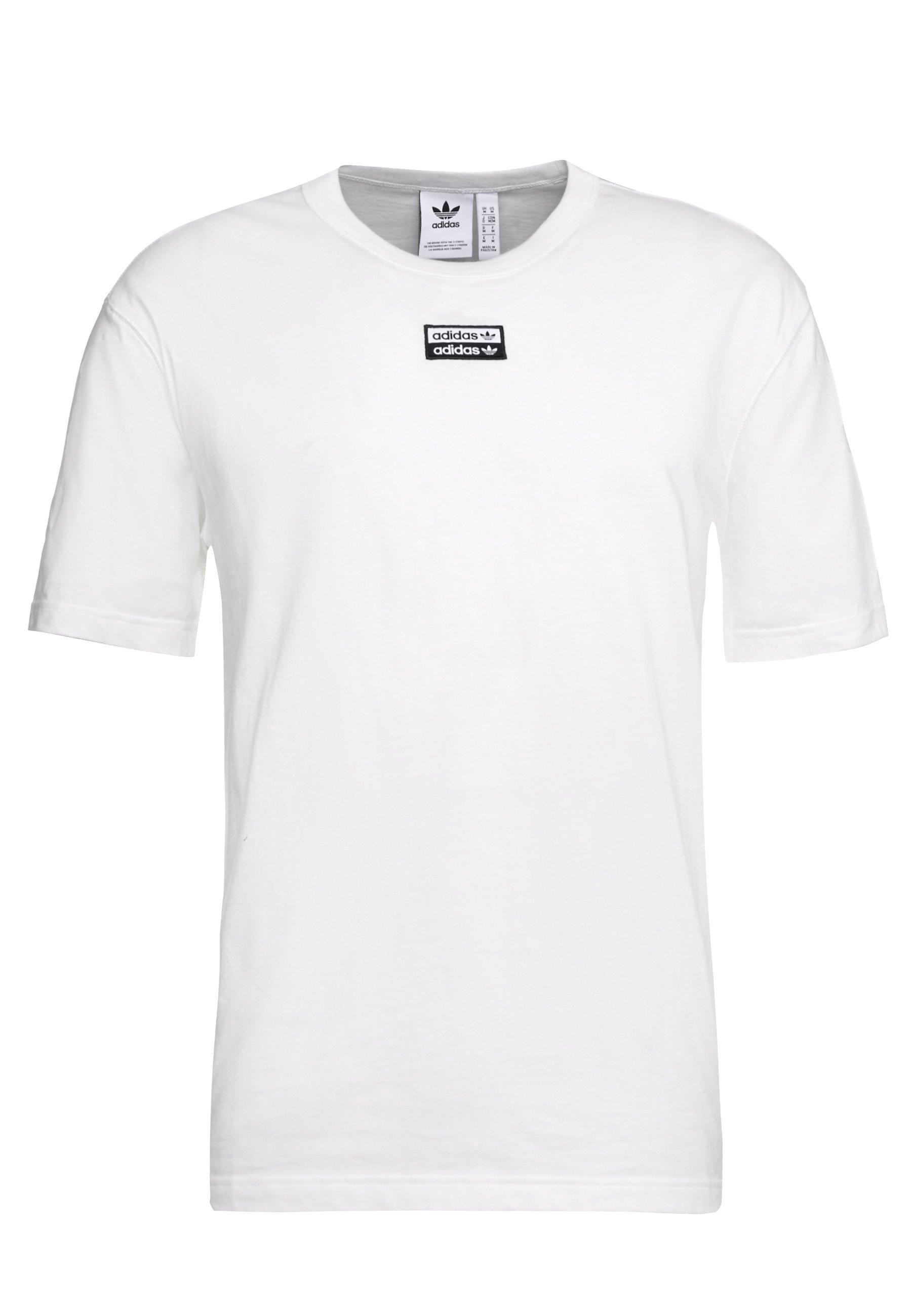 Adidas Originals R.y.v. Short Sleeve Tee - T-shirt Z Nadrukiem Core White