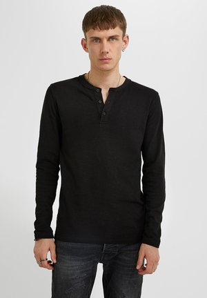 LONGSLEEVE CHIBS HENLEY - Long sleeved top - black