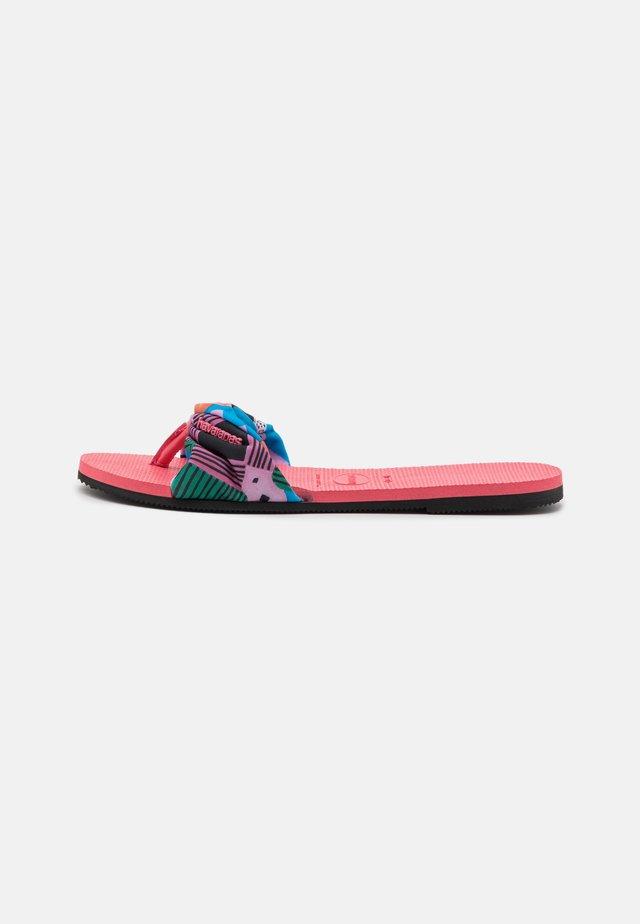 YOU TROPEZ - T-bar sandals - pink porcelain