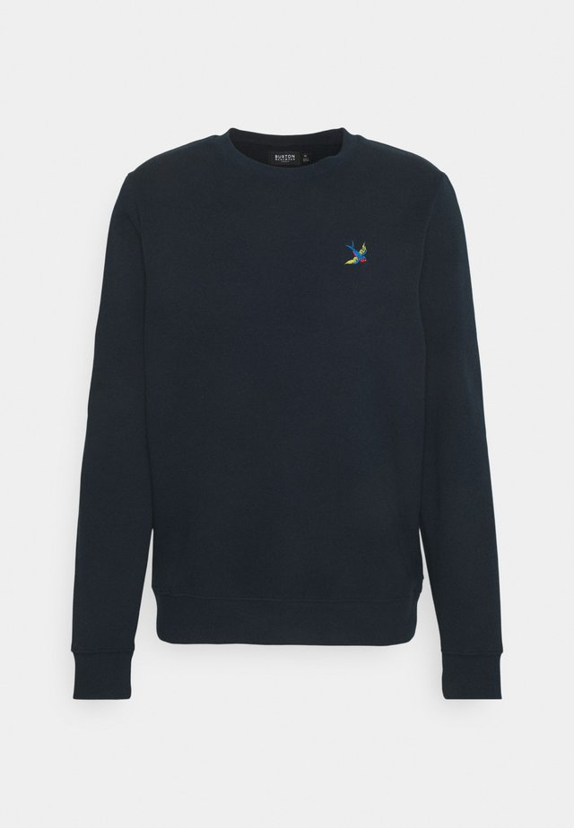 SWALL EMBROIDERED CREW - Sweatshirt - navy