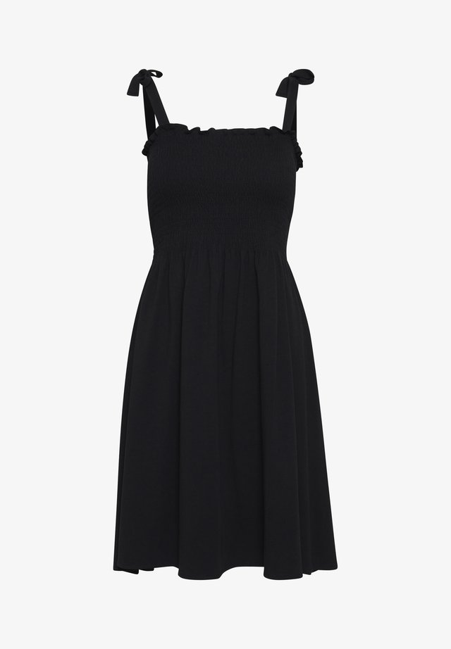 BYPANDINA SMOCKDRESS - Robe en jersey - Black