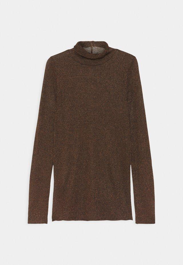SHEER TOP - Longsleeve - black/bronze