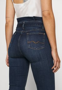 7 for all mankind - PAPERBAG PANT SOHO DARK - Slim fit jeans - dark blue - 3