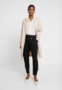 Cream - SILLIAN PANTS - Trousers - pitch black - 2