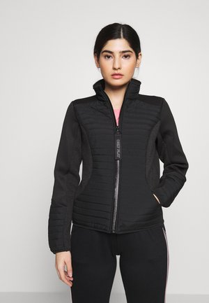 ONPJOLINA PADDED SHORT JACKET - Summer jacket - black/black melange