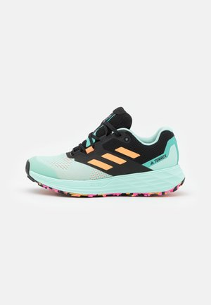 TERREX TWO FLOW - Stabilty running shoes - clear mint/hazy orange/screaming pink