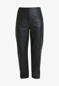 Selected Femme - SLFREJA PANT - Kožené kalhoty - black - 4