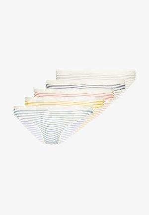 BRIEF POCKET 5 PACK - Alushousut - nude/mulit-coloured