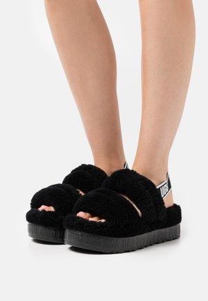 OH FLUFFITA - Slippers - black