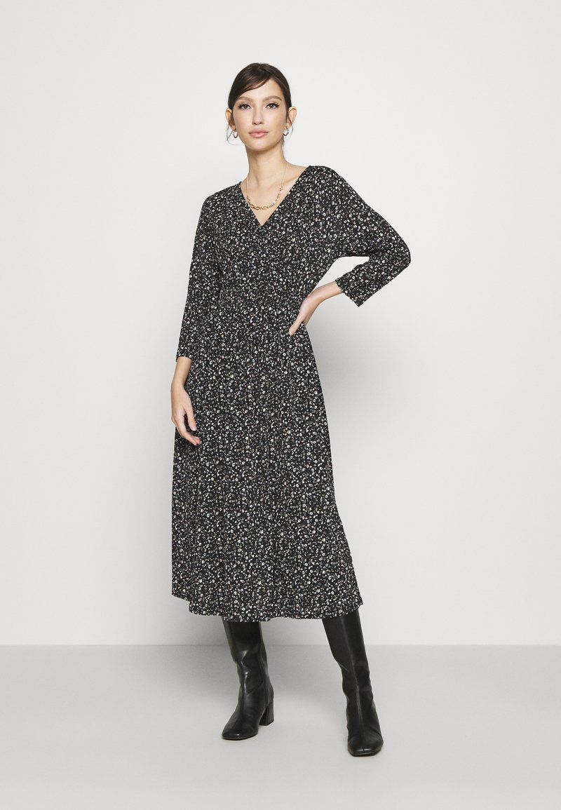 ONLY - ONLPELLA WRAP DRESS - Day dress - black