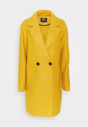 ONLBERNA BONDED COAT TALL - Classic coat - golden yellow melange