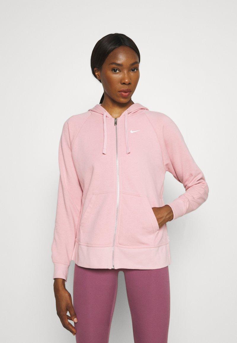 Nike Performance - DRY GET FIT - Zip-up sweatshirt - pink glaze/white