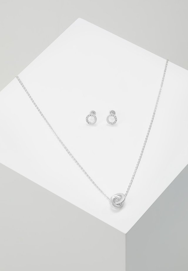 GIFT NECK SET CONNECTED - Ohrringe - silver-coloured