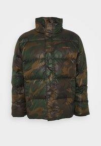DEMING JACKET - Down jacket - camo evergreen / brick orange
