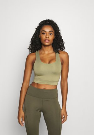 LIFESTYLE LOOP CROSS BACK VESTLETTE - Sports bra - oregano