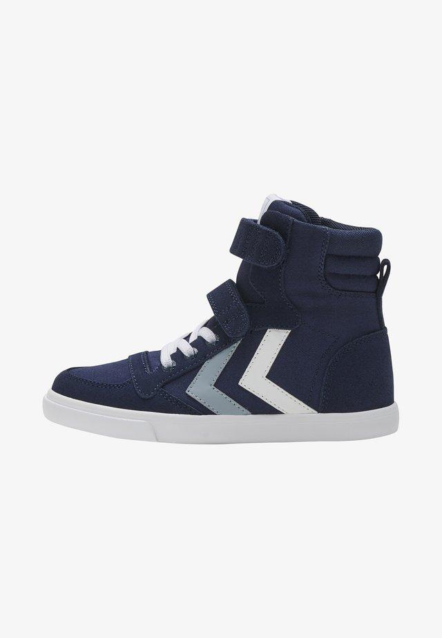Sneakers hoog - black iris