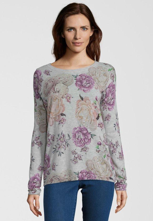 MIT FLOWERPRINT - Sweatshirt - grey