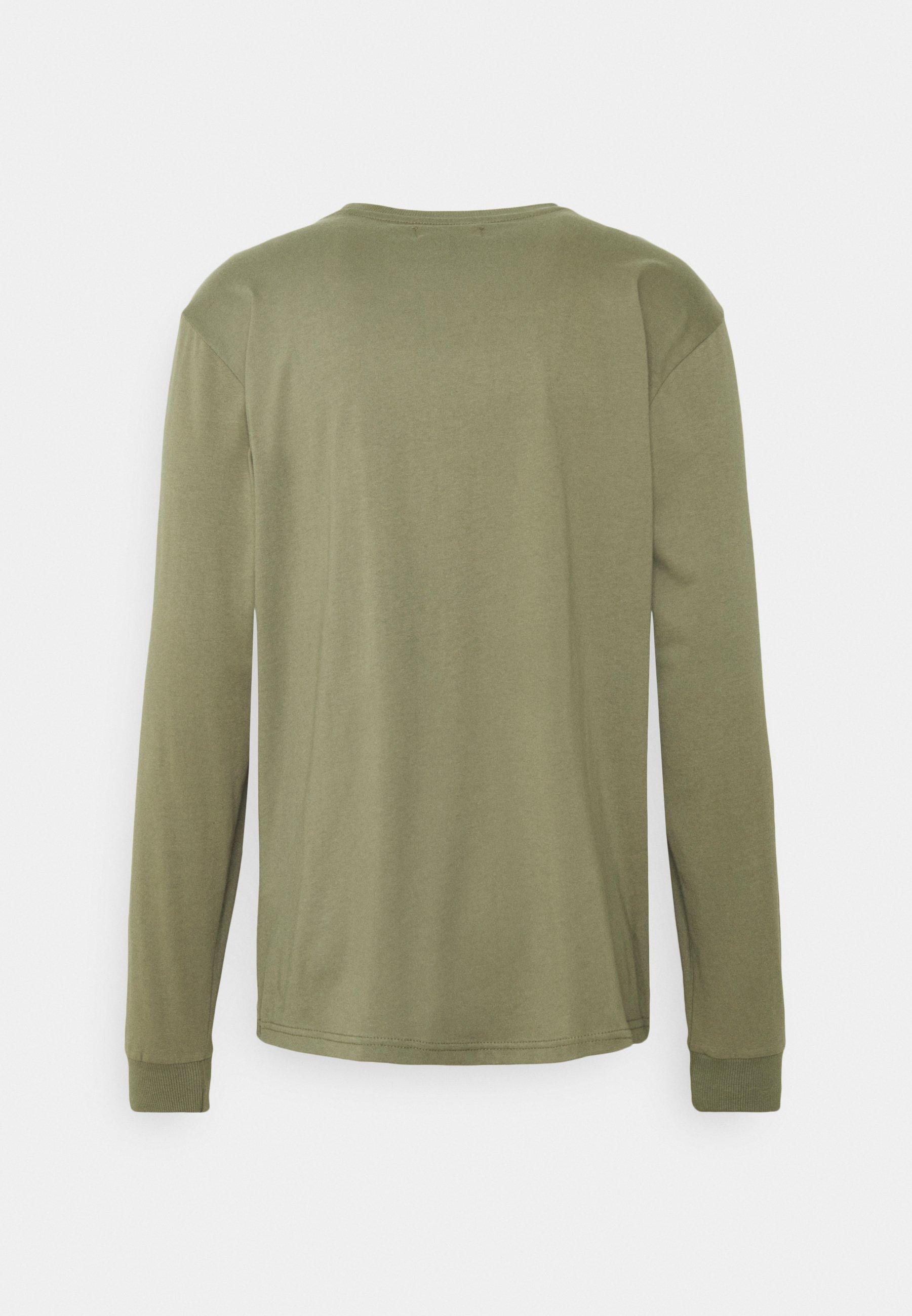 Urban Threads Front Graphic Long Sleeve Tee - Langarmshirt Khaki