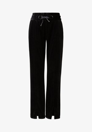 PINTUCK - Tracksuit bottoms - black