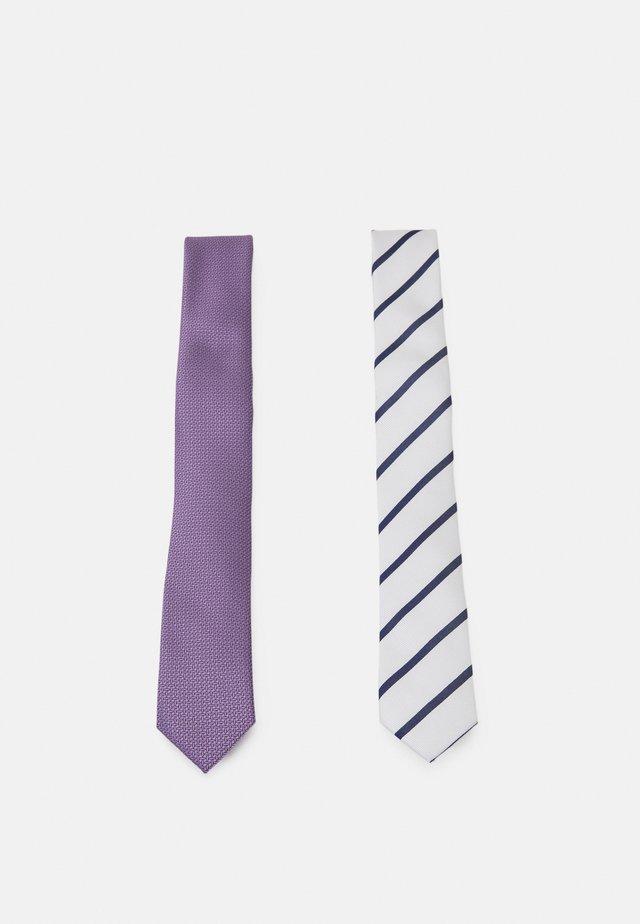 2 PACK - Tie - off-white/mauve