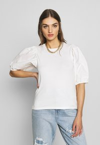 Gina Tricot - LISA TOP - T-Shirt basic - white - 0