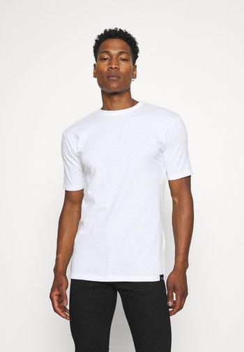 5 PACK - Jednoduché triko - black/white/grey marl/khaki/navy