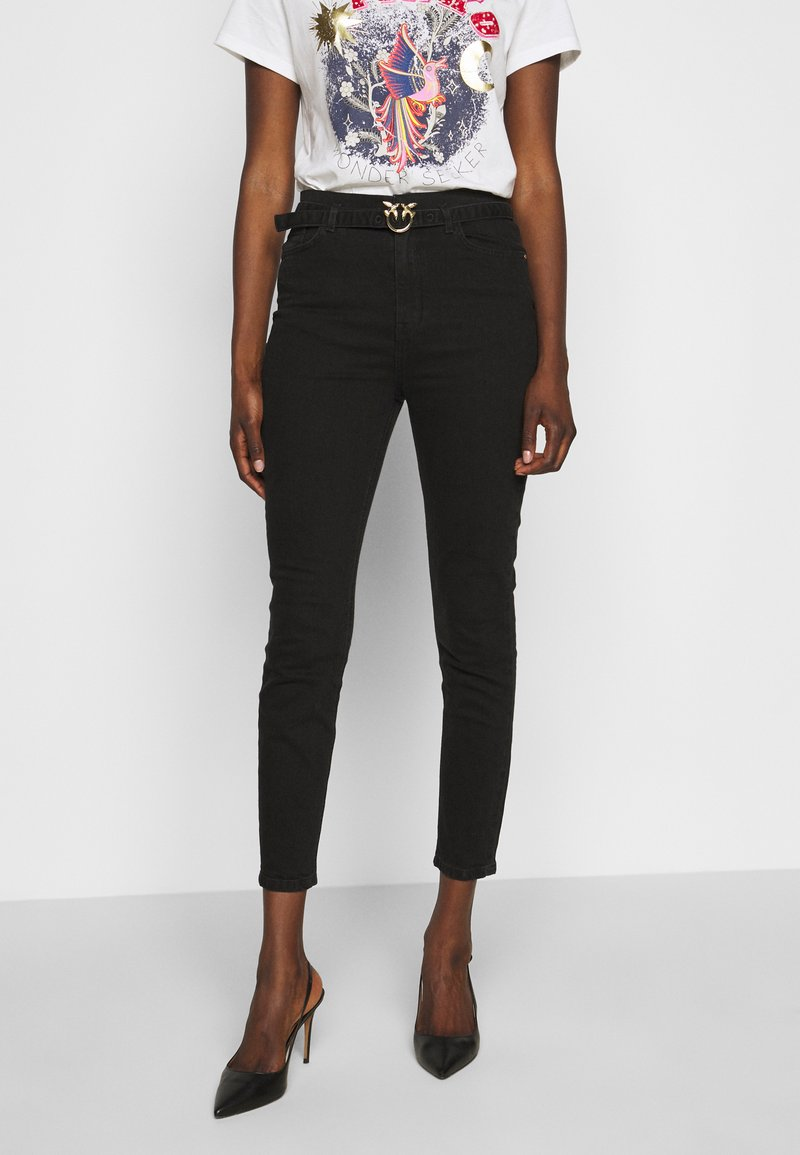 Pinko - SUSAN TROUSERS - Jeansy Skinny Fit - black