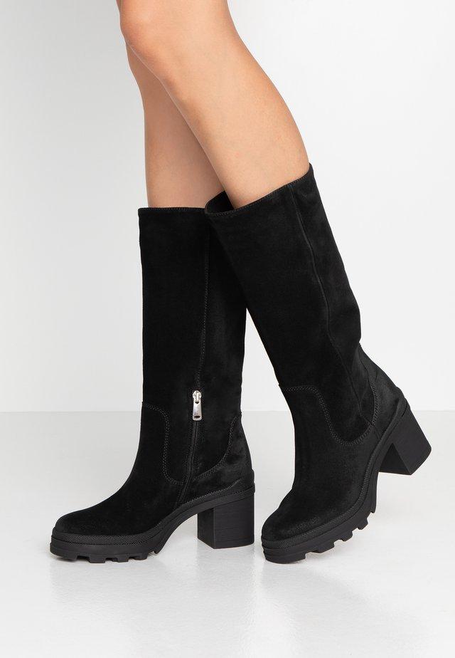 Stivali con plateau - diana nero