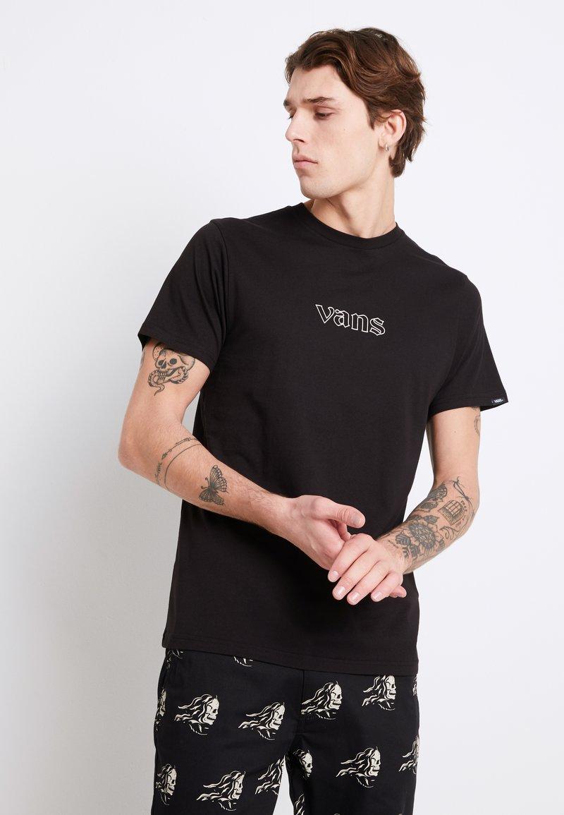 Vans - MN SIXTY SIXERS - Print T-shirt - black