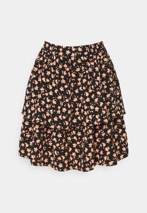 BENNA BEACH SKIRT - Minisukně - black flower