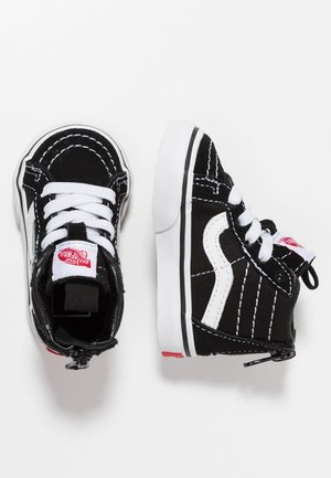 TD SK8 ZIP - Baby shoes - black/white