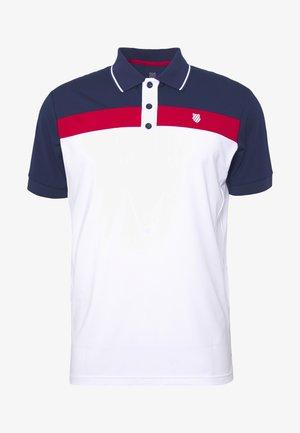 HERITAGE SPORT STRIPE - Polo shirt - white/red/navy