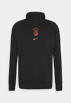 GALATASARAY HOOD  - Club wear - black/vivid orange