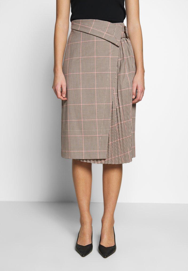 Sisley - SKIRT - A-line skirt - beige