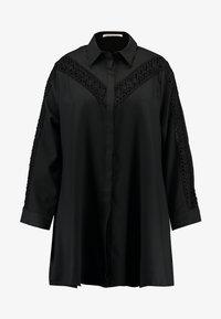 Glamorous Curve - INSERT DRESS - Skjortekjole - black - 4