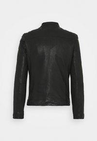 Goosecraft - GC ROSTOCK BIKER - Leather jacket - black - 7