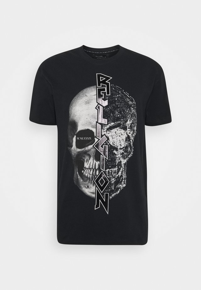 SPLIT TEE - Camiseta estampada - black